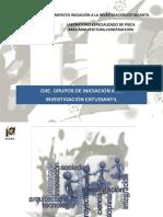 INTERFIS. DB04. GRUPOS GIIE.DB04. GRUPOS GIIE. Grupos de Iniciación a la Investigación Estudiantil