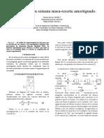 Modelado y simulación Sistema Masa Resorte Amortiguado