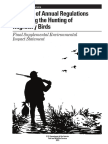 part 2- final seis- issuance of annual regulations permitting the hunting of migratory birds