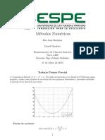 Trabajo Métodos numéricos ESPE