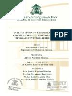 Análisis Teórico y Experimental de Un Sistema de Almacenamiento de Energía Renovable en Forma de Hidrógeno Alfonso Navarro Montejo