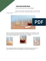 Reacción Ácido Base, Experimento