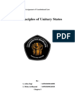 The Principles of Unitary State