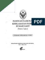 Panduan Nasional Keselamatan Pasien (Patient Safety) 2008