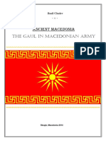 Ancient Macedonia -The Gaul in Macedonian Army