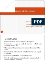 Constructor and Destructor
