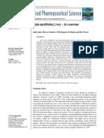 Sida Cordifolia (Linn) – an Overview