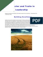 Character n Traits in Leadership