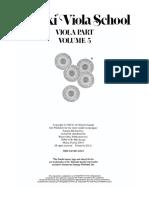 Suzuki Viola Vol 5