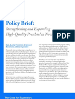 Strengthening High Quality Preschool Policy Brf 12 2007