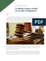 Sentencia Del Tc (El Hab Corp No Proc Cuando Hay Flagrancia)