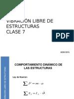 2015 UTEM SISMICIDAD CLASE 7 Vibraciones Libres de Estructuras
