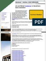 Container Dienst Und Bereitstellung Für Schrott Und Metall
