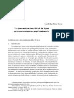 Ensayo Inconstitucionalidad en Guatemala