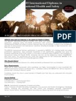 133 NEBOSH International Diploma in OSH - Flyer