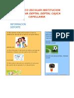 Periodico Escolar Institucion Educativa Deptal Deptal Cajica Capellania