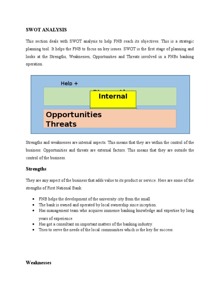 SWOT Analysis FNB   Swot Analysis   Banks