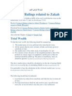 Common Rulings Related to Zakah
