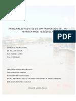 Principales Fuentes de Contaminación Del Rio