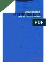 Giorgio Agamben El Tiempo Que Resta