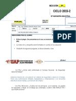 Examen Parcial 2015-2 SEGURIDAD E HIGIENE (Romulo Dextre)