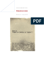 "João Quartim de Moraes, ""Sobre 'Orígenes de la dialéctica del trabajo'"""