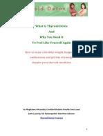 Thyroid Detox Free Report