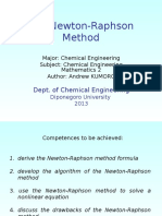 The Newton Raphson Method