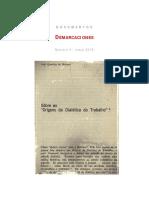 """João Quartim de Moraes, """"Sobre as 'Origens da dialética do trabalho'"""""""