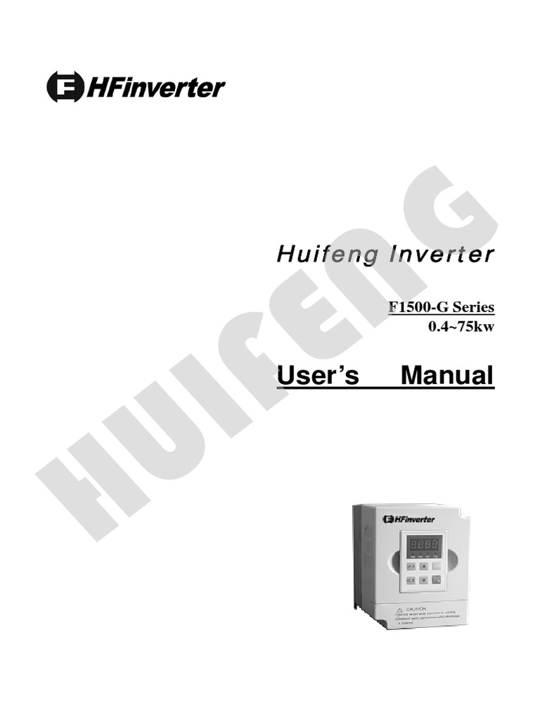 HF Inverter F1500 G_ManuaL | Power Inverter | Power Supply