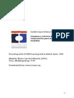Lopez & Catalan 1999 (Limpieza y Criterios de Conservación Para Monedas y Medallas )