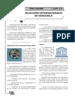RELACIONES INTERNACIONALES DE VENEZUELA