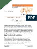 Articol Pedagogie sociala