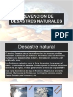 Prevencion de Desastres Naturales