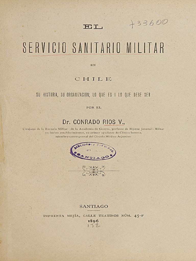 El Servicio Sanitario Militar en Chile. Su Historia ca2407fa0a0f3