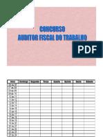 Concurso Auditor Fiscal Do Trabalho