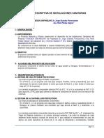 Memoria Descript. Sanitaria 2012