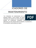 Informe Indicadores de Mantenimiento 1