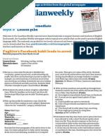 Lower intermediate lesson plan (November)