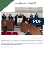Receber a Denúncia Sem Fundamentar é Nulo, Diz STJ _ Empório Do Direito