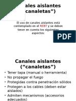 Canales Aislantes