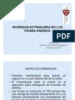 Inversion Extranjera en Los Paises Andinos