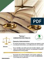 Derecho Administrativo I Tema I