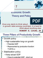 Chapter 7 - Economic Growth-Theory and Policy