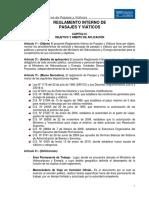 REGLAMENTO DE PASAJES Y VIÁTICOS APROBADO