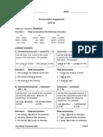 Pronunciation Supplements