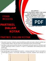 "TUGAS FISIKA MODERN KELOMPOK 1 ""PARTIKEL DALAM KOTAK"" UNIVERSITAS HALU OLEO"