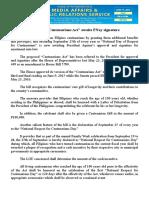 "june11.2016 bProposed ""Centenarians Act"" awaits PNoy signature"