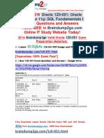 2016 Jun New-Oracle 1Z0-051 PDF Dumps 303q Get