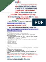 2016 Jun New-Oracle 1Z0-051 VCE Dumps 303q Get
